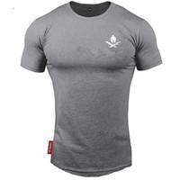 2020 nuovo marchio abbigliamento fitness in esecuzione o-collo t-shirt cotone bodybuilding shirt sportiva tops palestra uomo maglietta