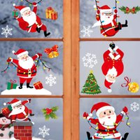 19 أسلوب الأيائل عيد الميلاد سانتا كلوز ملصقات ملصقات رسم عيد الميلاد متجر نافذة الزينة ملصقات زينة عيد الميلاد T9I00783