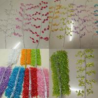 Акриловые свадебные украшения цветок филиал 30CM DIY Свадебные волос Букеты Кристалл бисера Water Drop Home Decor Мебель Garland 1 3MC G2