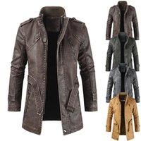 Männer pelz faux männer winter marke lang dicke fleece lederjacke parkas outfit mode warme lässig vintage mantel