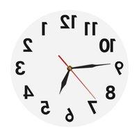 Обратные настенные часы Необычные номера назад Современные декоративные часы Смотреть отличные часы для вашей стены 201118