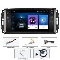 Funzione completa Multimedia Giocatore di navigazione GPS 7 pollici Android auto DVD Stereo Radio per Jeep Compass Commander Grand Cherokee Wrangler GRATIS Patriota