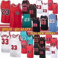 뜨거운 마이클 23 NCAA 농구 저지 91 로드맨 33 Pippen Scottie Rodman Pippen NCAA 23 마이클 91 Rodman 33 Pippen Top