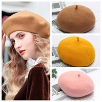 New 100% Pure Wool Beret Hat Women Felt Beret British Blend ...