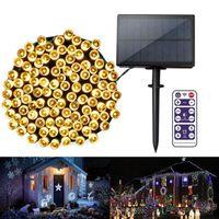 Luces solares actualizadas 6V IP65 LED solar LED al aire libre Garden Street LED Luces de cadena Fiesta de Navidad Garland Decoración solar Luz