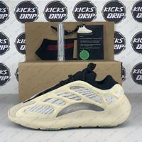 Üst Kalite Kanye West Sneakers Azael Alvah Glow V3 Statik Yansıtıcı Kemik Turuncu Açık Spor Basamak MNVN ile Kutu Hediyeler Ayakkabı
