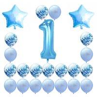 40-дюймовый детский душ воздушные шары младенцы один год день рождения вечеринка цифровой воздушный шар фестиваль украшения бумаги отрывы воздуха Airthalloon 19гл