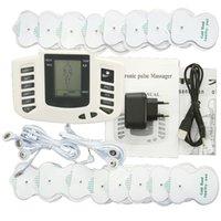 كامل الجسم مدلك عشرات EMS الكهربائية التحفيز العضلات محفز electrostimulator fisioterapia آلة العلاج الطبيعي 16 منصات