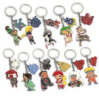Anime Naruto Keychain Sasuke Uzumaki Kakashi Gaara Action Figures Chaveiro Women Men Fashion Jewelry Key holder Cosplay llaveros