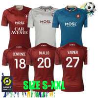Frete grátis 20 21 FC Metz Futebol Jerseys 2020 2021 Boulaya Diallo Centonze Bronn Vagner Niane Fofana Vagner Camisa de Futebol da Casa Tailândia