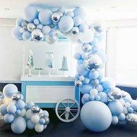 Fengreise красочный воздушный шар арочная цепочка О детка день рождения вечеринка декор дети латекс баллон набор гирлянды детская душ девушка партия принадлежности T200624