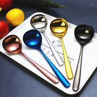 304 Stainless Steel Long Handle Soup Ladle Tableware Soup Sp...