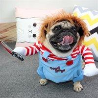 Costumes de chien Halloween Costumes drôles vêtements pour animaux de compagnie chat Cowboy Cavaliers Outfit pour petit, moyen, grand bouledogue, Noël, chevalier Cosplay 201223