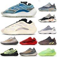 İyi Kalite 2020 Yeni 700 Koşu Ayakkabı Mist Fosfor Leylak Biber Statik Runner Mıknatıs Erkekler Kadınlar Karbon Mavi Eğitmenler Sneakers BOYUTU ABD 12