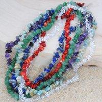 Simples Natural Gems Pedra frisada colares Mulheres irregulares Nuggets reais Amethysts Aventurine Lapis Lazuli Pedra Choker Colares