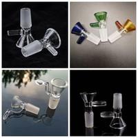 Spesso rotonda Imbuto Fumo ciotola di vetro l'erba asciutta Bruciatori a nafta con la maniglia di 14 millimetri 18 millimetri maschio For Smoking Strumenti Accessori Glass Bong Bubble