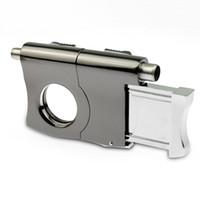 공장 휴대용 여행 담배 액세서리 도구 멀티 기능 Ciagr 커터 펀치 맞춤 코 히바 시가 커터 113x82x24mm