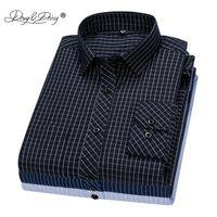 Davydaisy 새로운 도착 남성 셔츠 긴 소매 셔츠 능 직물 격자 무늬 패션 인과 원피스 남자 셔츠 17 색 브랜드 의류 DS342 201120
