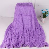 Plush Blanket Soft Fur Faux With Fluffy Throw Blanket Bed Sofa Bedspread Long Shaggy Warm Bedding Cover Bedsheet Blankets