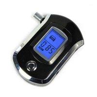 Concentración de alcohol profesional Medidores Probador Digital LCD Aliento Analizador Detector Alcoholímetro AT60001