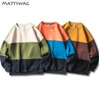 Mattswag Colorblock Mens толстовки 2020 новая лоскутная повседневная японская капюшона для мужчин Streetwear Harajuku хип-хоп мужские женщины Pullover1