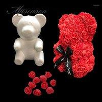 1 قطع نمذجة البوليسترين الستايروفوم الأبيض رغوة الدب العفن تيدي لعيد الحب هدايا عيد ميلاد حفل زفاف الديكور 1