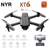 NYR новый Mini RC Drone XT6 4K 1080P HD Dual Camera WiFi FPV Возрождение воздуха высоты воздуха Удерживайте складной Quadcopter Dron для мальчика игрушек 201208