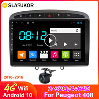 Android 10 4G + 64G Car Stereo per Peugeot 2010-2015 2016 308 408 GPS Navigation Head Unità multimediale Radio 4G WiFi RDS Player DIN