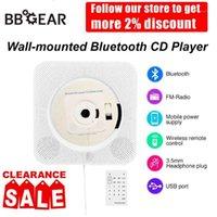 Настенный Bluetooth CD-плеер Bluetooth Portable Home Audio Boombox с дистанционным управлением FM-радио MP3 USB1