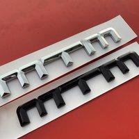 Audi A4L A3 A5 A6L VW 골프 CC Tiguan MTM ABS 엠블럼 자동차 스타일링 트렁크 로고 배지 스티커 크롬 광택 검정
