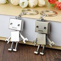 귀여운 합금 로봇 키 체인 크리 에이 티브 키즈 성인 보석 가방 홀더 악세사리 선물 체인 키 반지 Llaveros