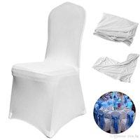 Universal Hochzeit Weißer Stuhl deckt Polyester Spandex Chair Cover Hotel Bankett Essen im Freien Treffen Party Stuhlabdeckung Hochzeitsdekor