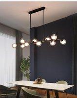 Nordic Modern Einfache Blase Ball Lange Streifen Kronleuchter Lampe Minimalistische Kreative Hängende Lichter Magische Bohneneisenkunst