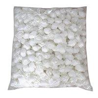 500pcs / lot Questi fiori sono utilizzati per decorare Flores Man-Made decorativo Roses capo della Rosa Orso Wedding House fiore artificiale Wh
