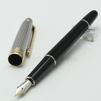 Stylo classique Hot Sell-Classic 163 stylo plume noir avec clip doré Papeterie Fournitures de bureau d'école Ecriture de stylo d'encre