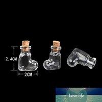 قلوب البسيطة الشكل الزجاجات المعلقات زجاج صغيرة مع الجرار كورك هدايا فيال واضحة شفافة من زجاجات 100pcs التي شحن مجاني