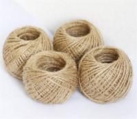 30M Natural arpillera de la arpillera de yute guita del cordón cuerda del cáñamo regalo cadena de embalaje Fiesta Evento Cuerdas de Navidad