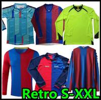 07 08 Uzun Retro Futbol Jersey 1996 1997 Figo Xavi Ronaldinho Ronaldo 08 09 Rivaldo Guardiol Iniesta Pique Xani Henry