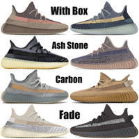 With box v2 Ash stone blue pearl carbon fade Cinder israfil Desert Sage earth reflective mens running shoes fashion women sneakers