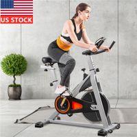 США Фото Крытый Велоспорт велосипед Стационарный ременной Smooth Велотренажер с завышением Soft седлом и ЖК-монитор Сверхбесшумные