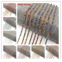 Wholesale 1 Yard Ss6(1.8-2.0mm) Cystal Rhinestone Trim Close Cup Chain Claw Diy Jewelry Making Who jlldoi
