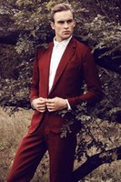 Trajes para hombres Blazers 2021 Lates Coat Pantalones de pantalones Borgoña Traje de boda para hombres Slim Fit Hecho a medida Bridegroom 2 pieza TUXEDO VESTIDOS TER