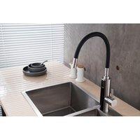 Tap de aço inoxidável Tankless aquecedor de água elétrica para cozinha instantânea aquecimento pia de cozinha Torneira com Temp Qylmmn
