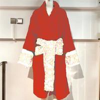Klasik Jakarlı Tasarımcı Bornoz Barok Gece Robe Erkek Kadın Elbiseler Çift Ev Giymek Marka Pijama Unisex Nefes Sıcak Cornes