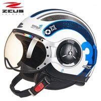 제우스 오토바이 절반 얼굴 헬멧 motociclismo 218 Moto 자전거 캐패시스 Protection1