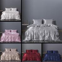 Imitação de cama de seda Artigo King Size Cama de cama Conformador Conjuntos New Três Pedaço Conjunto de Roupa Roupa Bedclothes 74xn3 K2