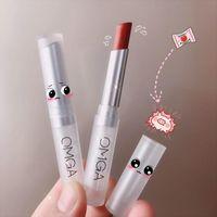 Lip Gloss Doyin Net Red recomendado Omga Pequeño Popsticle Lápiz labial Material de terciopelo Material Hidratación extendida Blanco Un generación