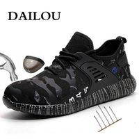 Bottes Dailou Hommes Sécurité Sécurité Chaussures Mâle Construction Steel Toe Sneakers indestructiries