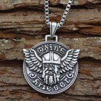 Colares de Pingente Youe Shone Mens Norse Deus Viking Odin Colar de Jóias Amulet