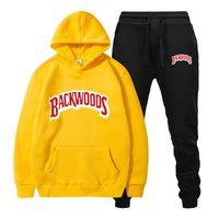 Moda Marka Backwoods erkek Seti Polar Hoodie Pantolon Kalın Sıcak Eşofman Spor Kapşonlu Parça Takım Elbise Erkek Tutma Tracksuittm1L